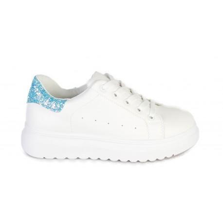 Sneaker wit/blauw