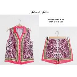 blouse leopard fuschia
