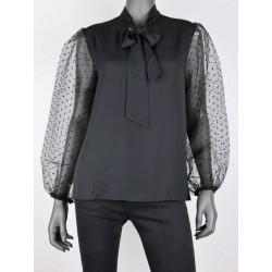 Feestelijke blouse zwart