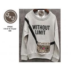 sweater leopard tasje