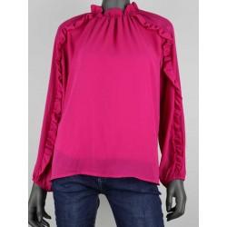 blouse fuschia
