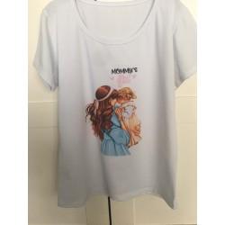 t-shirt 'mommy's girl' dames
