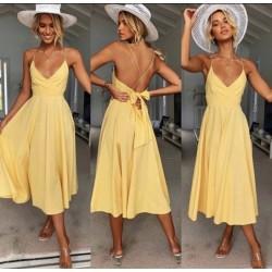 summerdress geel