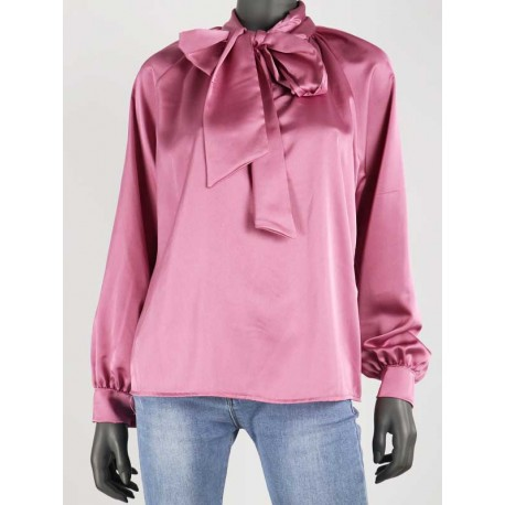 Blouse roze strik